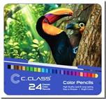 خرید کتاب مدادرنگی 24 رنگ جعبه فلزی سی کلاس از: www.ashja.com - کتابسرای اشجع