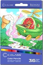خرید کتاب مدادرنگی 36 رنگ جعبه مقوایی سی کلاس از: www.ashja.com - کتابسرای اشجع