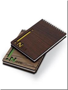 کتاب دفتر یادداشت چوبی خبرنگاری کوچک - دفتر یادداشت سیم از بالای چوبی کوچک - خرید کتاب از: www.ashja.com - کتابسرای اشجع