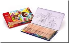 کتاب مدادرنگی 36+3 جعبه فلزی - 39 عدد مدادرنگی با جعبه فلزی - خرید کتاب از: www.ashja.com - کتابسرای اشجع
