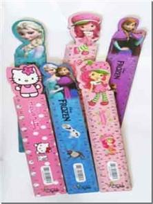 کتاب 2 عدد خط کش 25 سانتی چوبی - طرح دخترانه - بسته دو عددی خط کش های فانتزی چوبی در طرح های مختلف - خرید کتاب از: www.ashja.com - کتابسرای اشجع