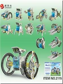 کتاب کیت ساخت روبات های خورشیدی 14 در 1   کد 2115 - Educational 14in1 KIT Solar Robot  کیت آموزشی طرح زندگی سبز - بالای ده سال - خرید کتاب از: www.ashja.com - کتابسرای اشجع