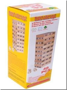 کتاب برج هیجان 18 طبقه همراه با تاس - جنگا - برج هیجان - بازی دقت و تمرکز - خرید کتاب از: www.ashja.com - کتابسرای اشجع