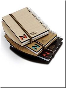 کتاب دفتر یادداشت چوبی لبه دار - کوچک - دفتر یادداشت سیم از بغل لبه دار کوچک - خرید کتاب از: www.ashja.com - کتابسرای اشجع