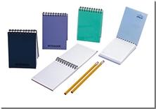 کتاب دفتر یادداشت سیم از بالا با جلد PP - دفتر یادداشت همراه  سیم از بالا - خرید کتاب از: www.ashja.com - کتابسرای اشجع