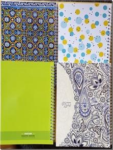 کتاب دفتر سیمی یک خط 80 برگ - با طرحهای متنوع - خرید کتاب از: www.ashja.com - کتابسرای اشجع