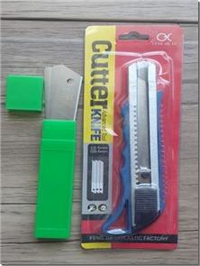 کتاب کاتر بزرگ با دسته پلاستیکی - ابزار برش تیز، پلاستیکی - خرید کتاب از: www.ashja.com - کتابسرای اشجع