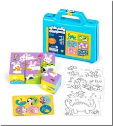 کتاب مکعب های تصویری - عددها - همراه با رنگ آمیزی و برچسب - خرید کتاب از: www.ashja.com - کتابسرای اشجع