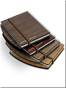 کتاب دفتر یادداشت چوبی لبه دار - بزرگ - دفتر یادداشت سیم از بغل لبه دار بزرگ - خرید کتاب از: www.ashja.com - کتابسرای اشجع