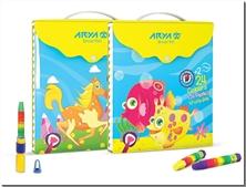 کتاب پاستل 24 + 2 رنگ کلاسوری - پاستل روغنی 26 رنگ کلاسوری دکمه دار آریا - خرید کتاب از: www.ashja.com - کتابسرای اشجع