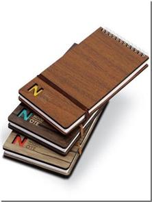 کتاب دفتر یادداشت چوبی خبرنگاری بزرگ - دفتر یادداشت سیم از بالای چوبی بزرگ - خرید کتاب از: www.ashja.com - کتابسرای اشجع