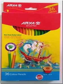 کتاب مدادرنگی 36 رنگی جعبه مقوایی - بسته مقوایی مدادرنگی 36 رنگ - خرید کتاب از: www.ashja.com - کتابسرای اشجع
