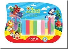 کتاب خمیربازی 6 رنگ آریا همراه با ابزار - 6 رنگ خمیر بازی همراه با ابزار - خرید کتاب از: www.ashja.com - کتابسرای اشجع