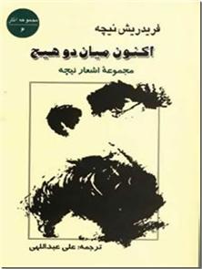 کتاب اکنون میان دو هیچ - مجموعه اشعار نیچه - مجموعه شعرهای نیچه در زمانهای مختلف - خرید کتاب از: www.ashja.com - کتابسرای اشجع