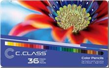 کتاب مدادرنگی 36 رنگ جعبه فلزی سی کلاس - بسته 36تایی مدادرنگی سی کلاس - خرید کتاب از: www.ashja.com - کتابسرای اشجع
