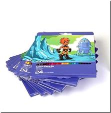 کتاب مدادرنگی 24 رنگ جعبه مقوایی سی کلاس - بسته 24تایی مدادرنگی سی کلاس - خرید کتاب از: www.ashja.com - کتابسرای اشجع