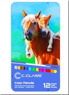 کتاب مدادرنگی 12 رنگ جعبه فلزی سی کلاس - بسته 12تایی مدادرنگی سی کلاس - خرید کتاب از: www.ashja.com - کتابسرای اشجع