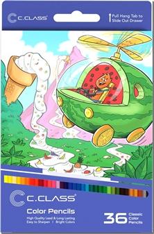 کتاب مدادرنگی 36 رنگ جعبه مقوایی سی کلاس - بسته 36تایی مدادرنگی سی کلاس - خرید کتاب از: www.ashja.com - کتابسرای اشجع
