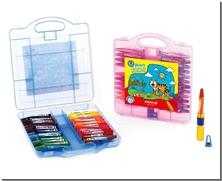 کتاب پاستل روغنی 24 رنگ آریا - جعبه پلاستکی با رنگ های شاد - خرید کتاب از: www.ashja.com - کتابسرای اشجع
