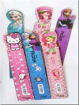 خرید لوازم التحریر خط کش 25 سانتی چوبی - طرح دخترانه از: www.ashja.com - کتابسرای اشجع
