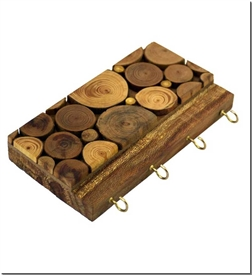 خرید صنایع دستی جاکلیدی چوبی پازلی - 4 آویزه از: www.ashja.com - کتابسرای اشجع