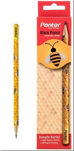 لوازم التحریر 12 عدد مداد مشکی طرح زنبور - همراه با جعبه مقوایی - خرید لوازم التحریر از: www.ashja.com - کتابسرای اشجع