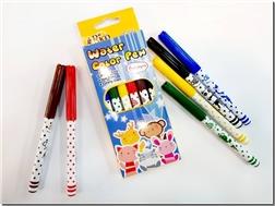 خرید لوازم التحریر ماژیک نقاشی 6 رنگ جعبه طلقی از: www.ashja.com - کتابسرای اشجع