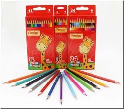 خرید لوازم التحریر مدادرنگی 12 رنگ جعبه مقوایی از: www.ashja.com - کتابسرای اشجع