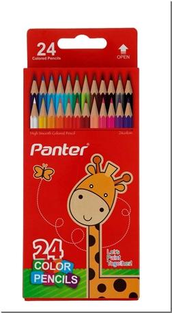 خرید لوازم التحریر مدادرنگی 24 رنگ جعبه مقوایی از: www.ashja.com - کتابسرای اشجع