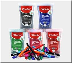 لوازم التحریر خودکار رنگی پنتر نوک 1.0 - دو عدد خودکار رنگی - خرید لوازم التحریر از: www.ashja.com - کتابسرای اشجع