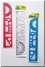 خرید کتاب خط کش ژله ای 30 سانتی الوان از: www.ashja.com - کتابسرای اشجع